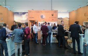 Bodegas CHP en la feria Internacional Prowein, promocionando los vinos de tenerife